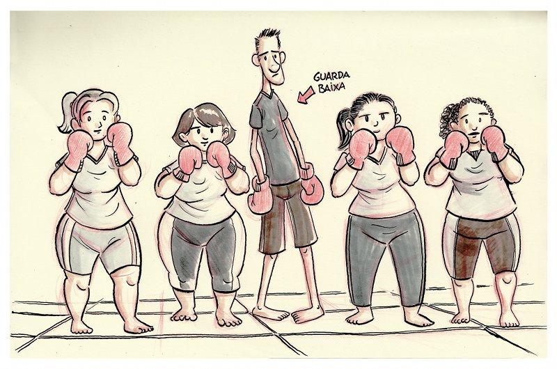 turma de boxe